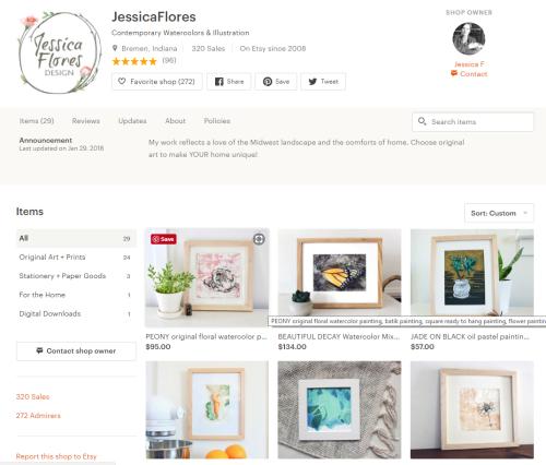 Etsy Print Screen